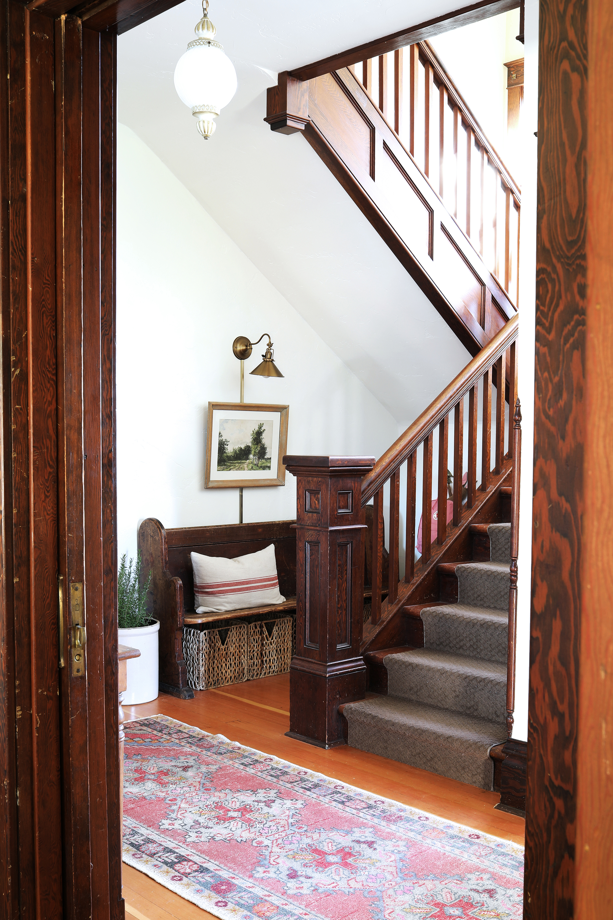The Grit and Polish - Farmhouse Entryway Update Staircase.jpg