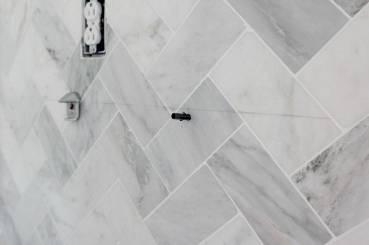 Installing Open Shelves over Tile Backsplash