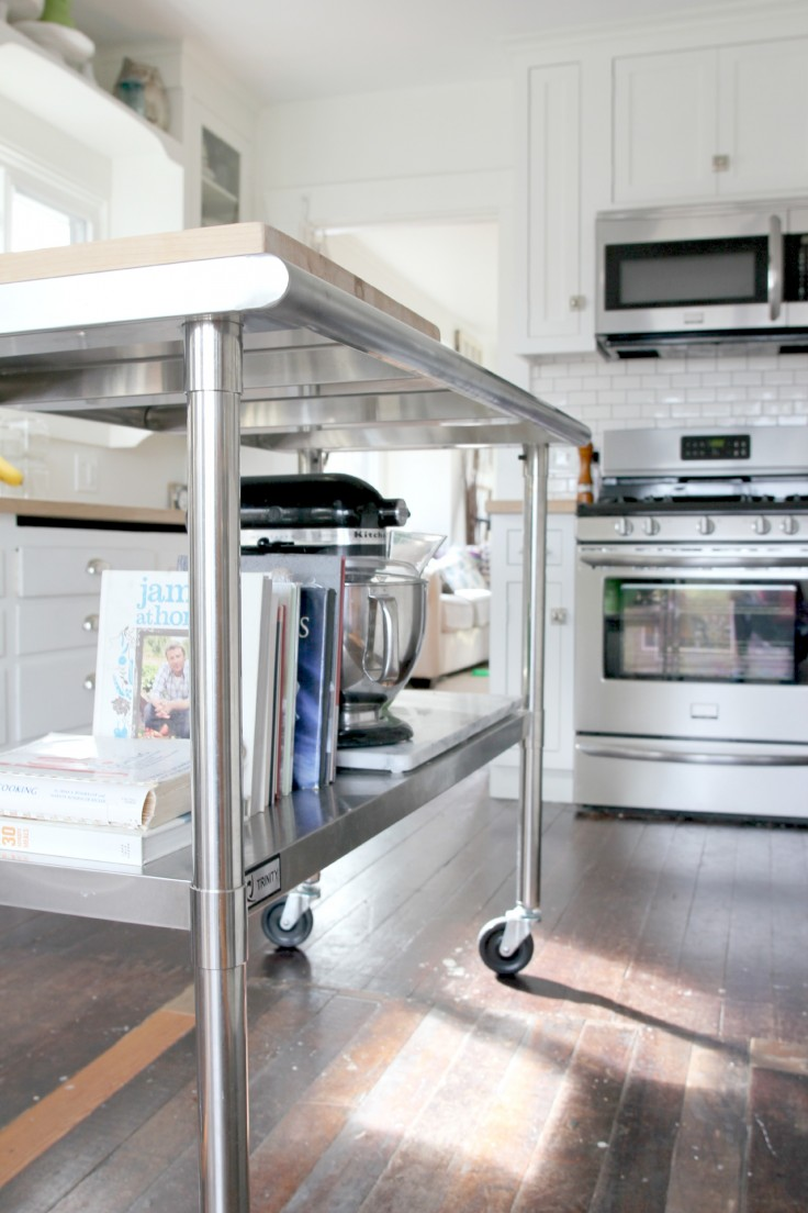 the Grit and Polish - kitchen renovation with stainless steel cart.jpg