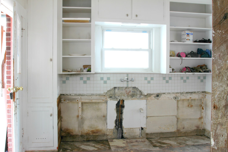 The Grit and Polish - Kitchen progress cabinets