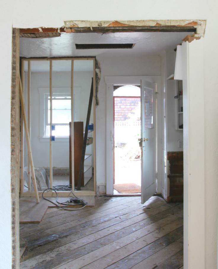 The Grit and Polish - Kitchen progress floors