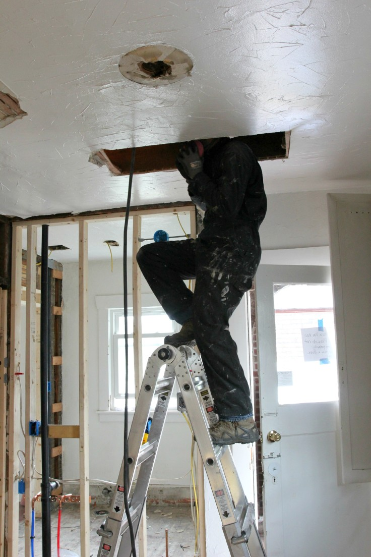 The Grit and Polish - Ceiling Electrical Rough In 2