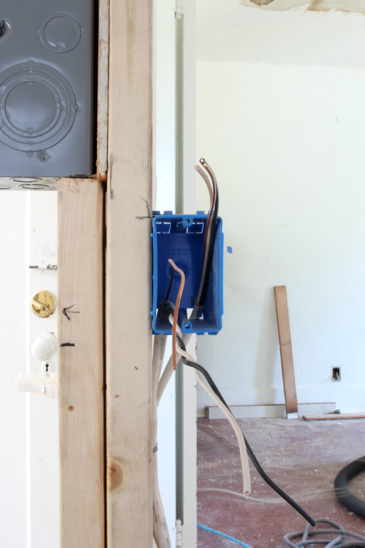The Grit and Polish - Electrical Rough In Kitchen Outlet
