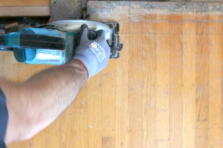 The Grit and Polish - Hardwood Install 1
