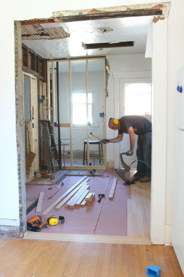 The Grit and Polish - Hardwood Install 2