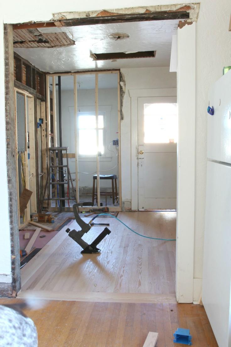 The Grit and Polish - Hardwood Install 6