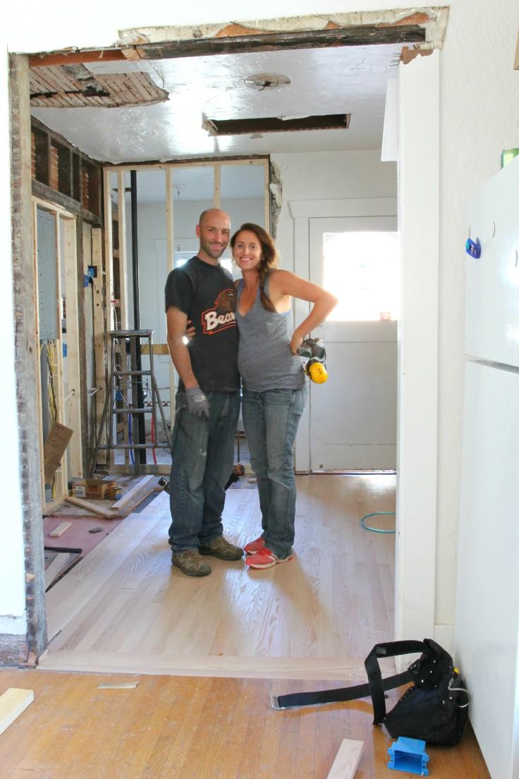 The Grit and Polish - Hardwood Install Garret and I