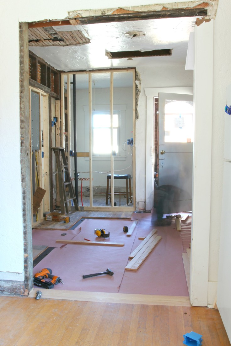 The Grit and Polish - Hardwood Install Start