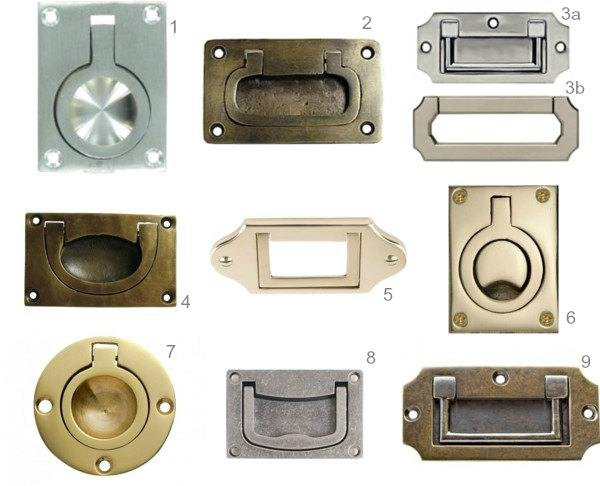 Recessed Cabinet Hardware Round Up with Numbers