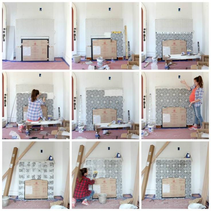The Grit and Polish - Fireplace Tile Collage 2
