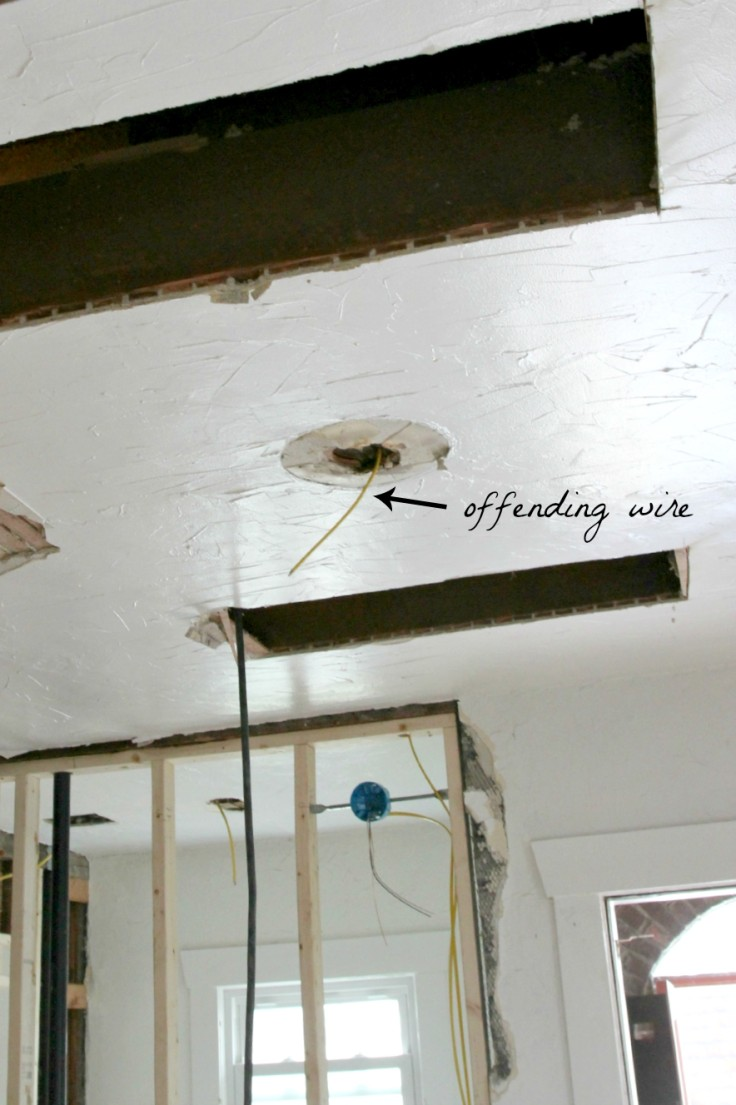 The Grit and Polish - Kitchen Ceiling Light Rough In Wire