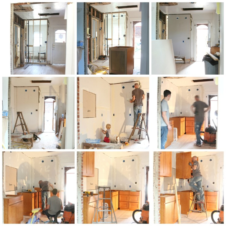 The Grit and Polish - Kitchen Progress Collage