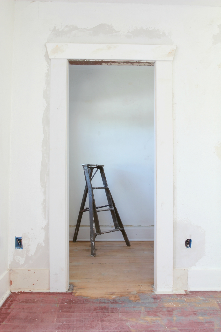 The Grit and Polish - Floors at master bath pre-paint