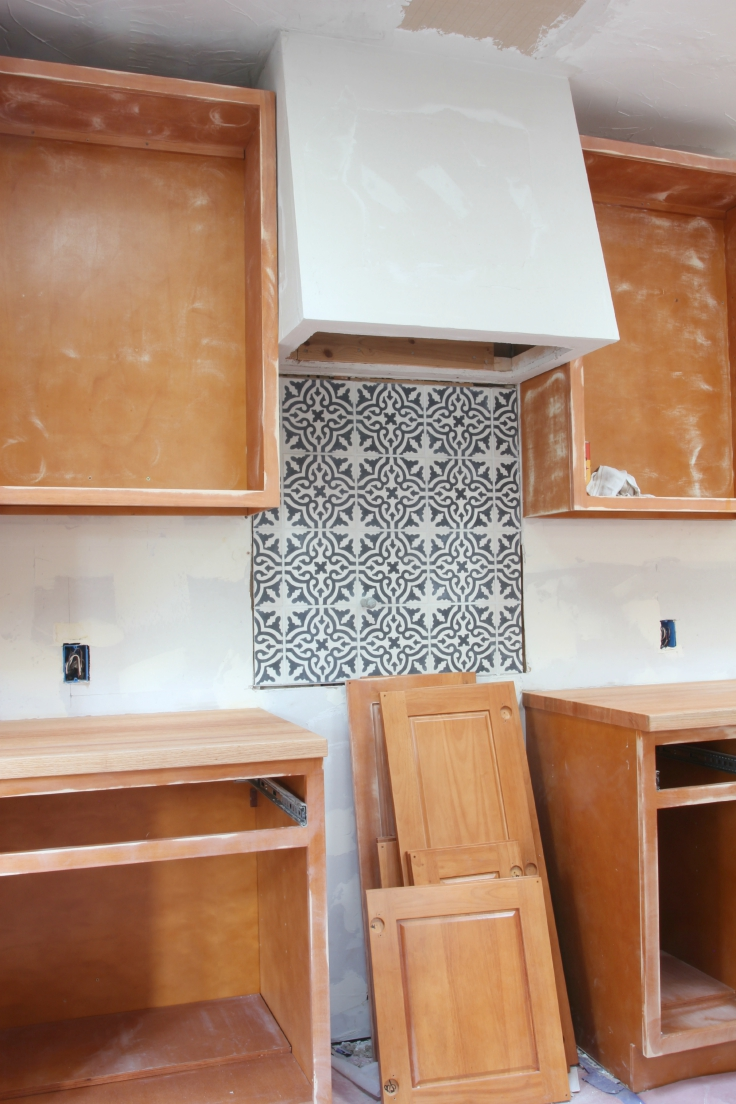 The Grit and Polish - Kitchen Sanding Cabinets