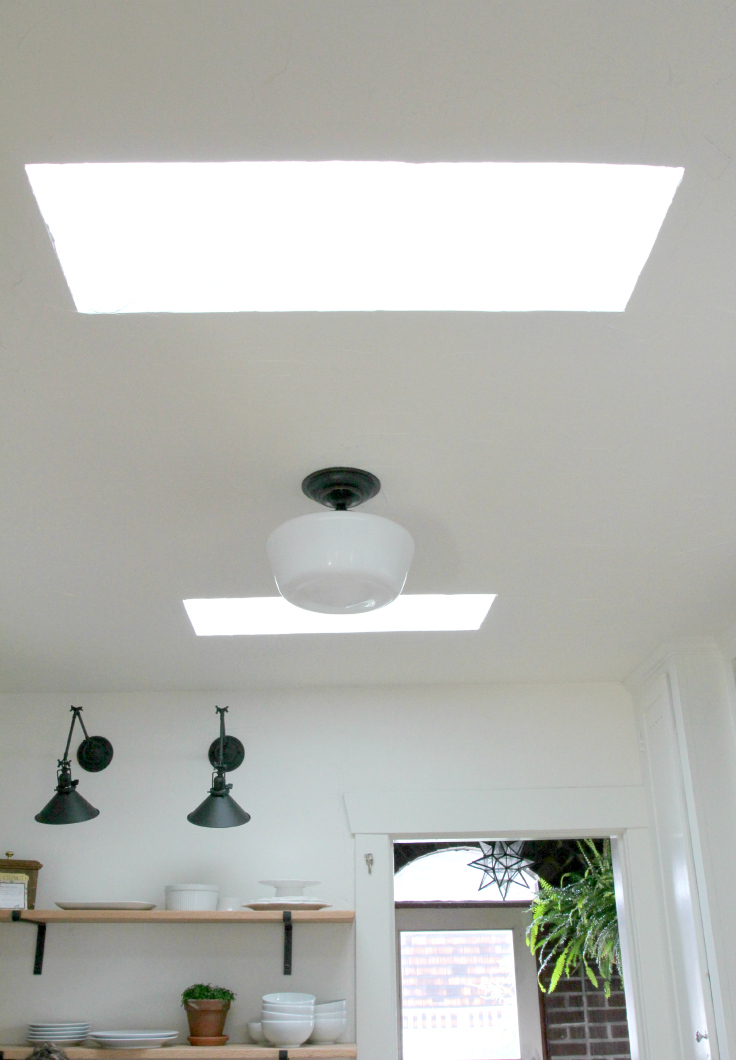 The Grit and Polish - kitchen finished ceiling