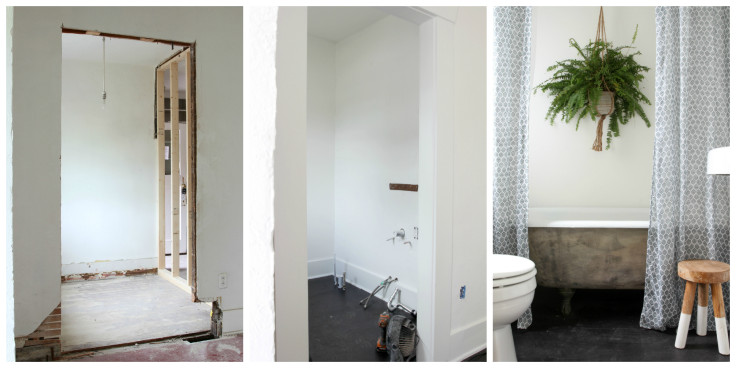 The Grit and Polish - Master Bathroom Renovation Process Collage