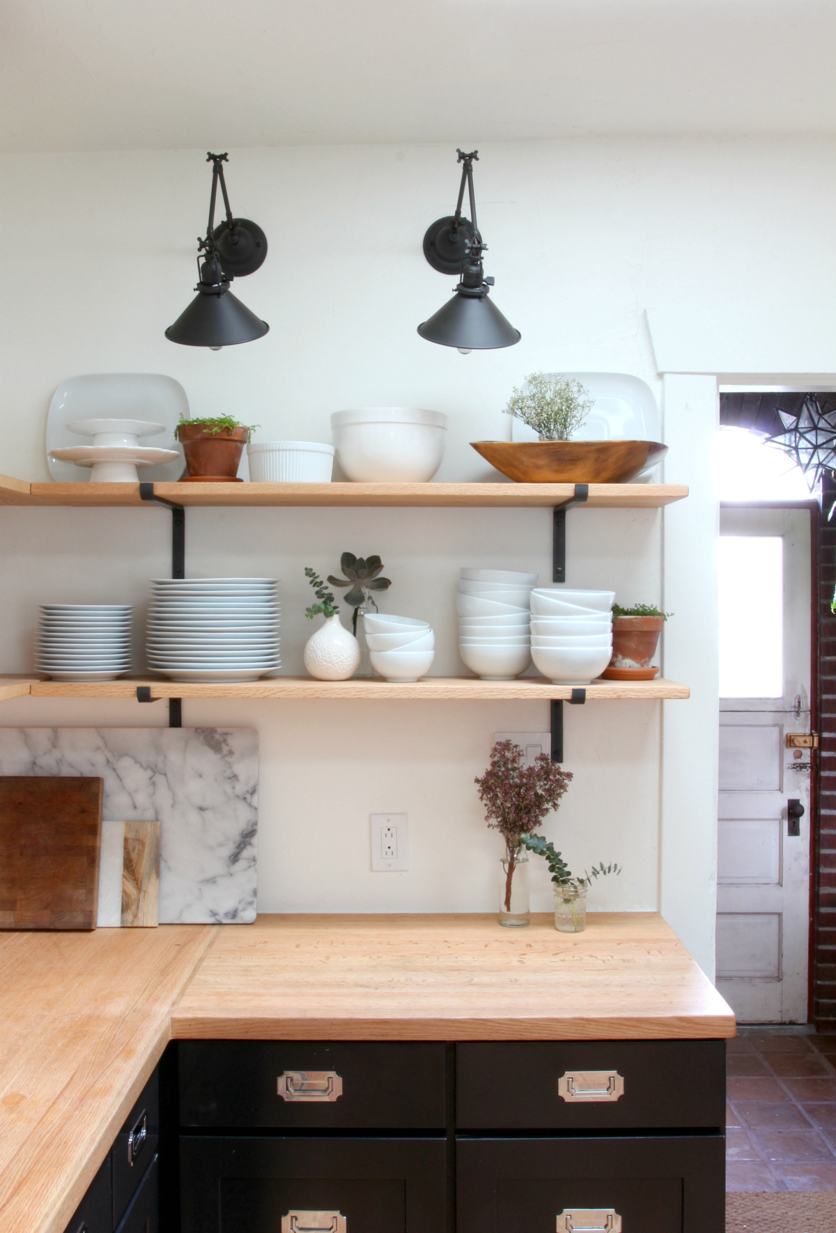 The Grit and Polish - Dexter Kitchen Remodel open shelves