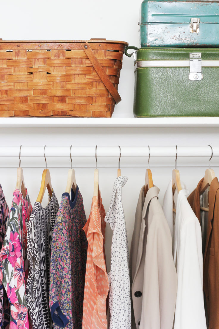 The Grit and Polish - Porch Master Closet CLothes and Baskets 2