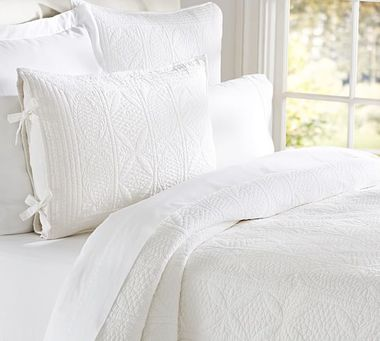 White Quilt and Shams