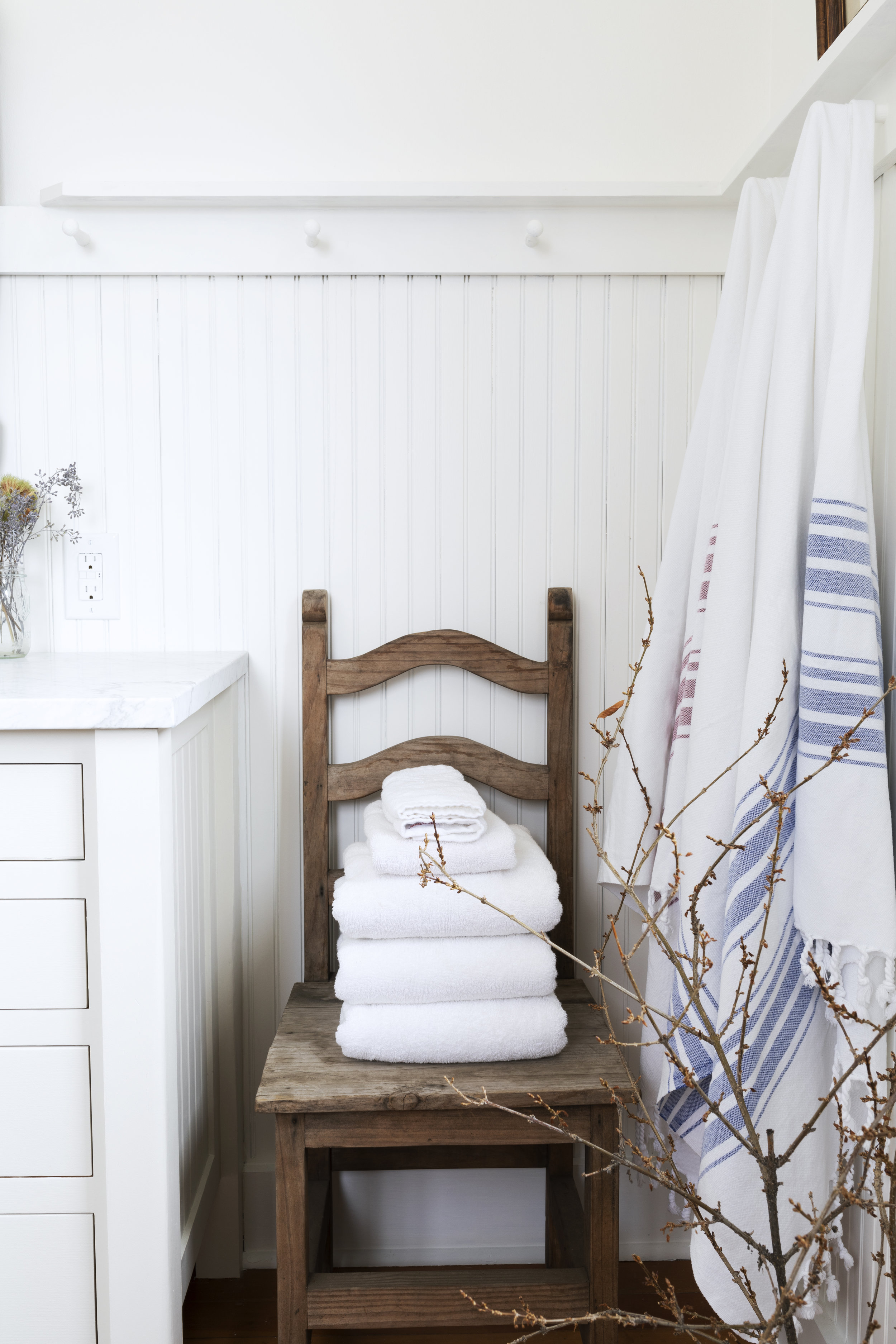 The Grit and Polish - Farmhouse Bathroom Budget Refresh Chair + Towels.jpg