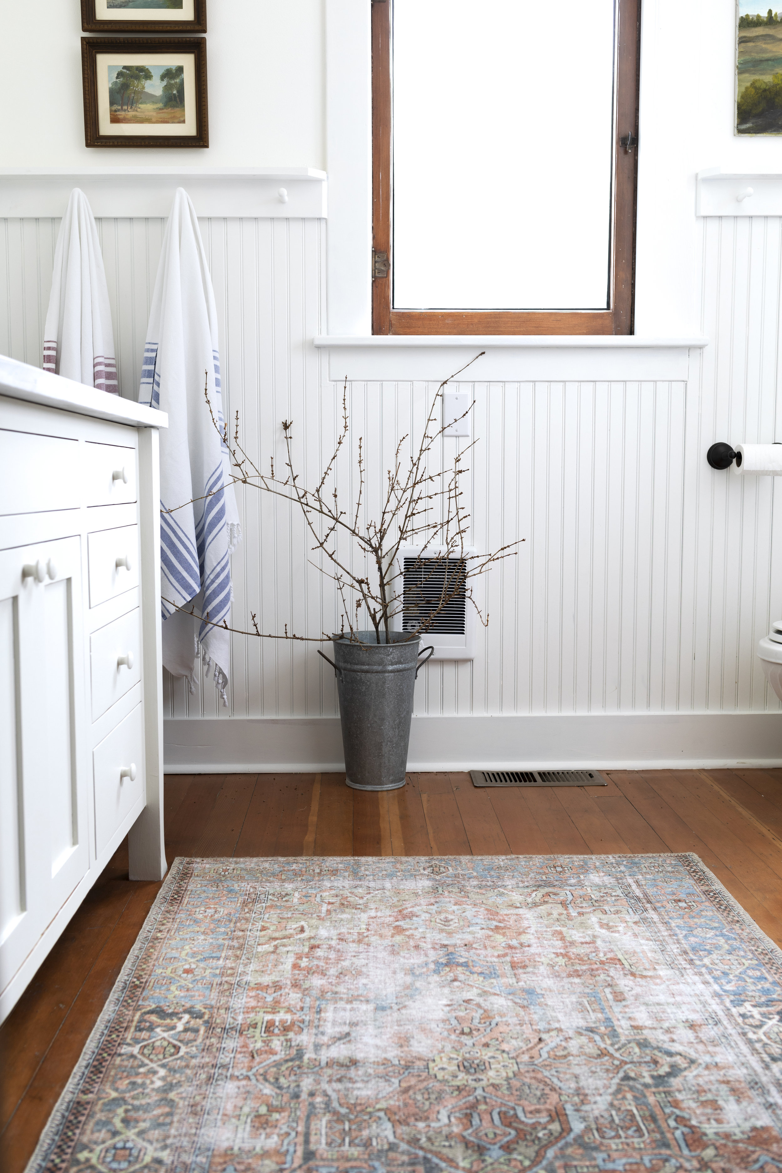 The Grit and Polish - Farmhouse Bathroom Budget Refresh Branches + Rug.jpg