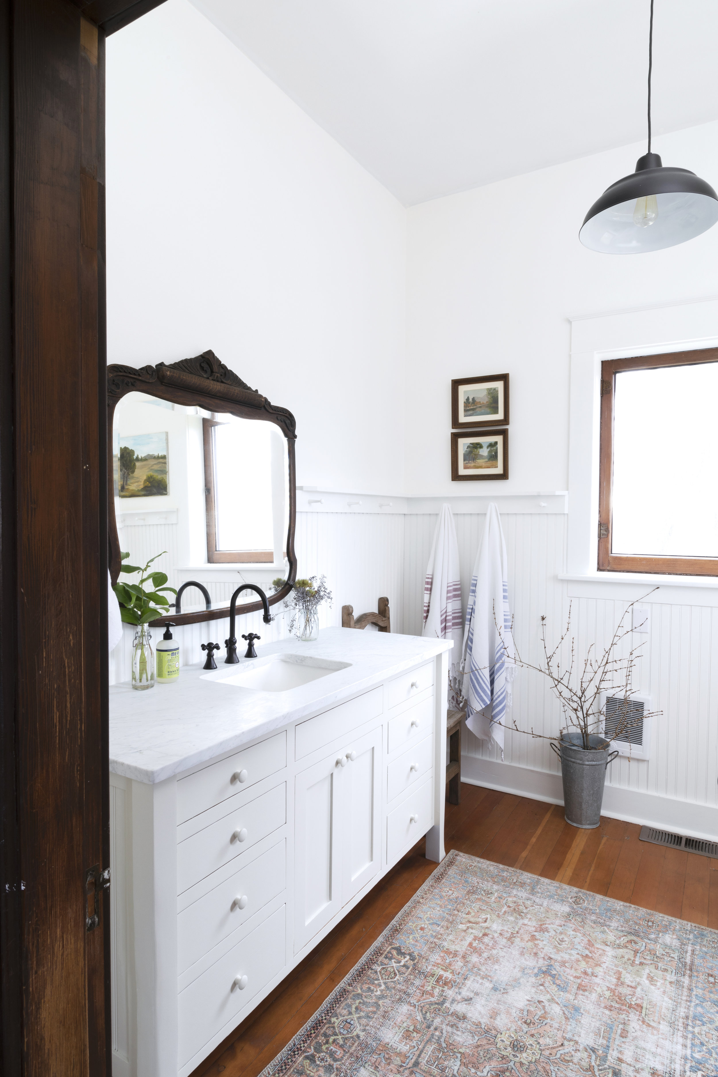 The Grit and Polish - Farmhouse Bathroom Budget Refresh Wide Vanity.jpg
