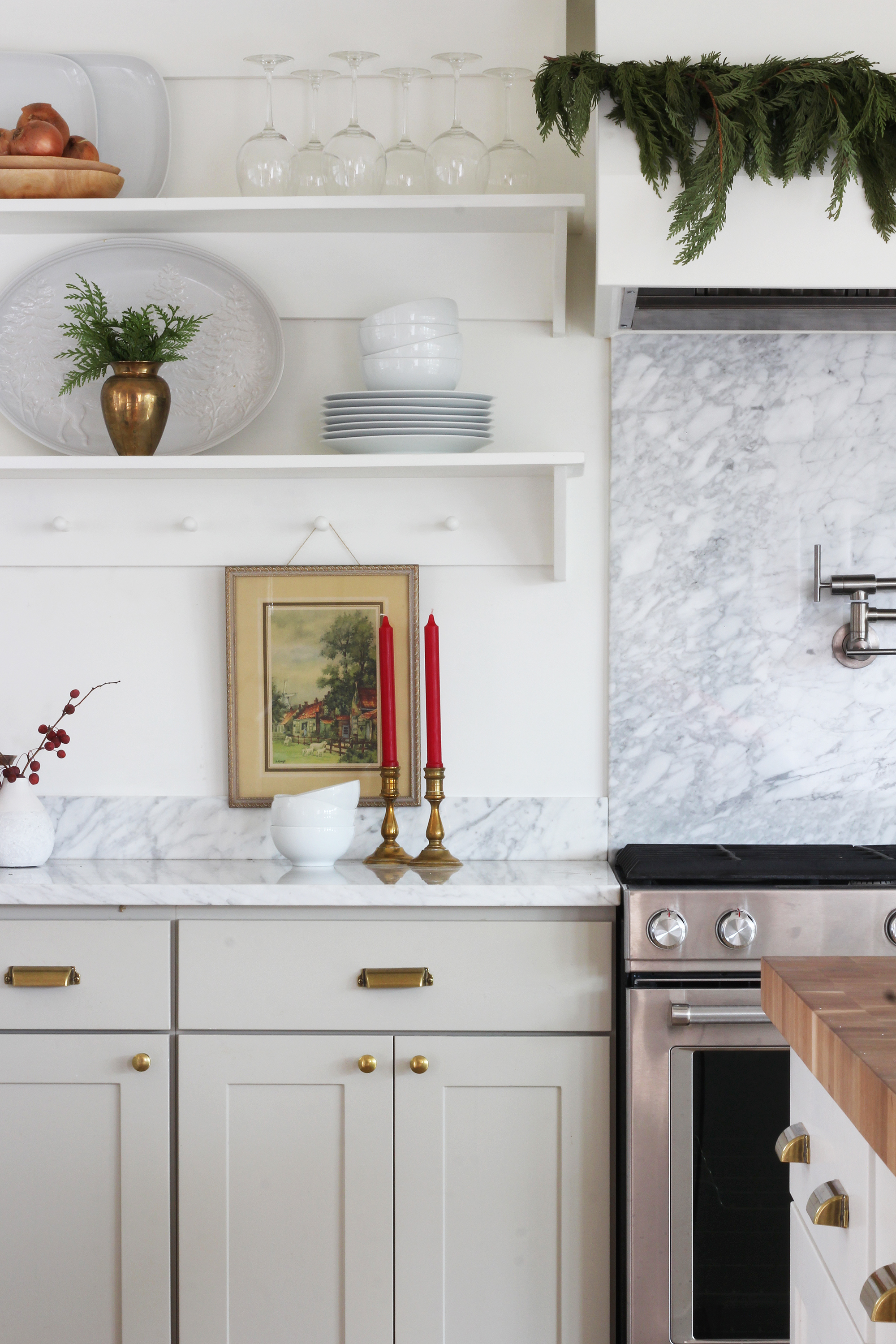 The Grit and Polish - Porch Kitchen Shelves and Hood Xmas 1.jpg