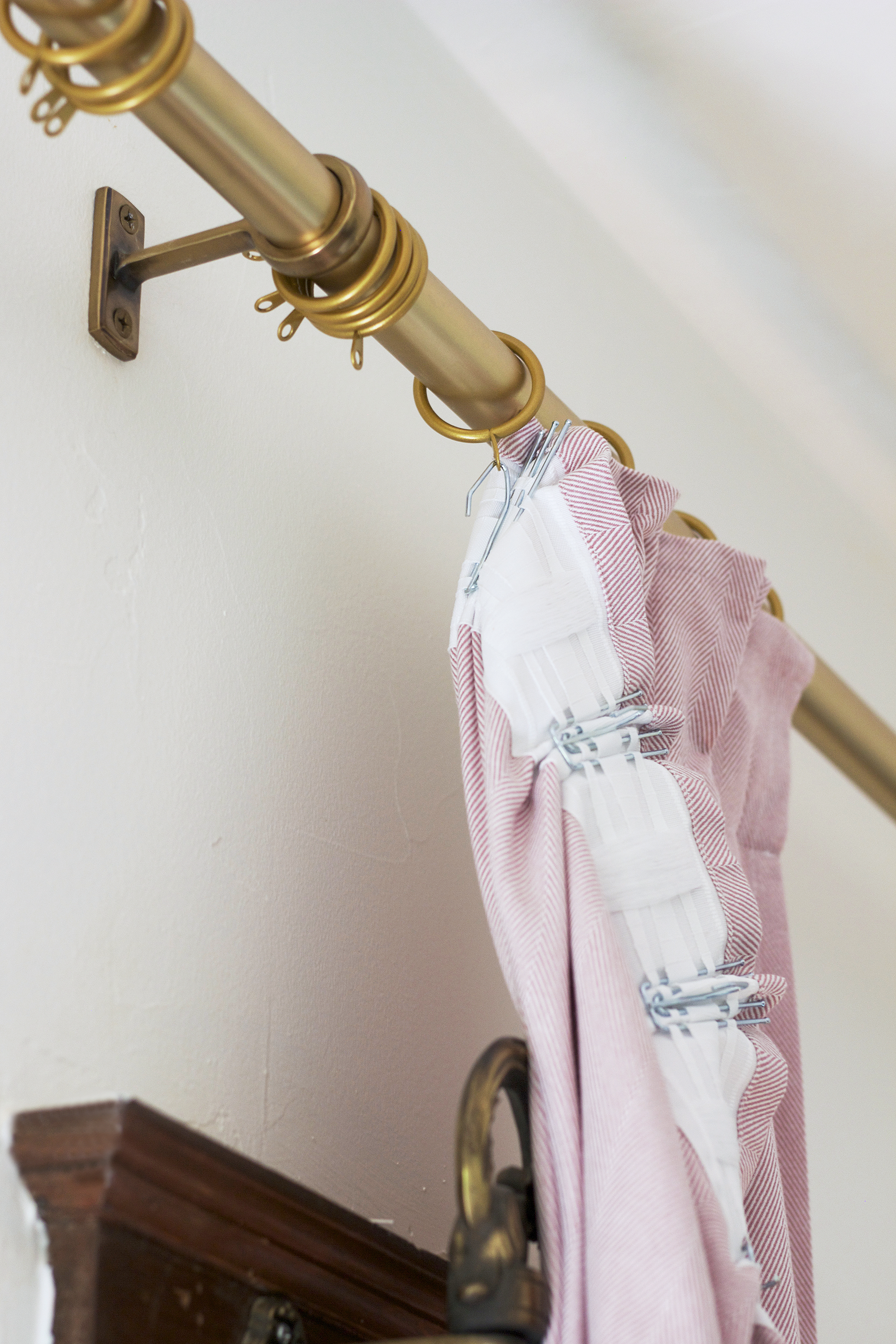 The Grit and Polish - Farmhouse Pinch Pleated Curtain hanging.jpg
