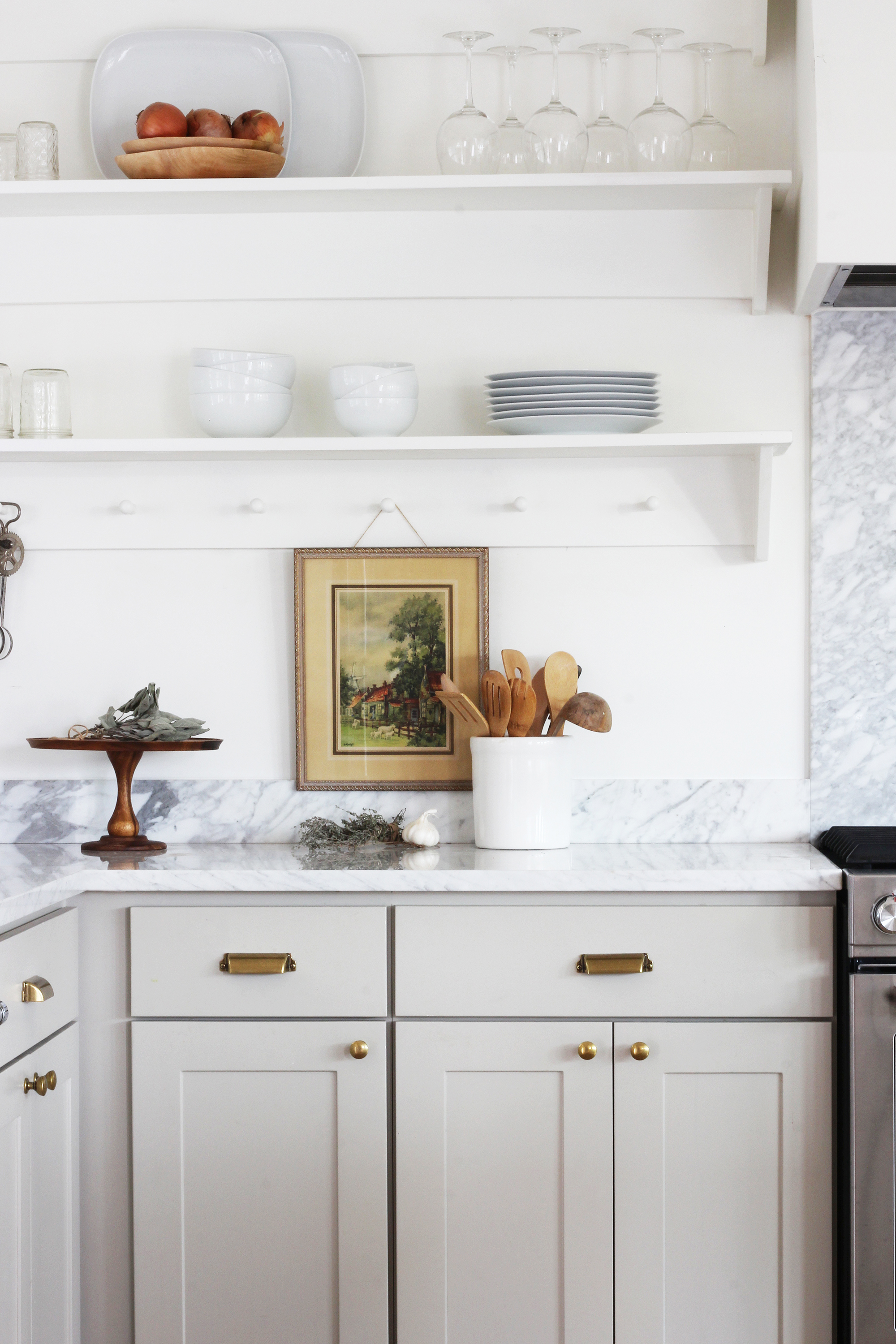 The Grit and Polish - Porch Adding vintage charm to new Kitchen Open Shelves.jpg