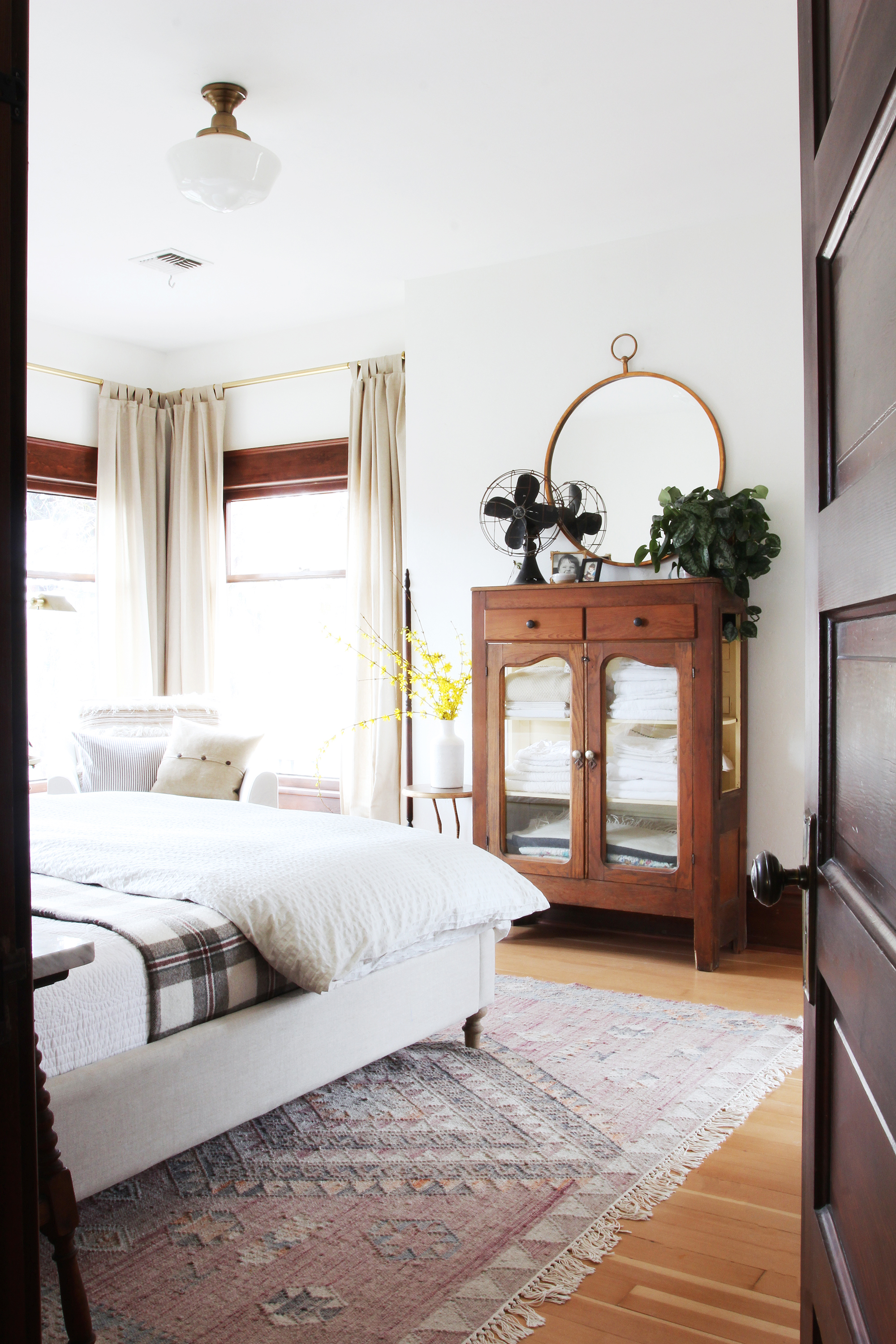 The Grit and Polish - Farmhouse Master Bedroom from door.jpg