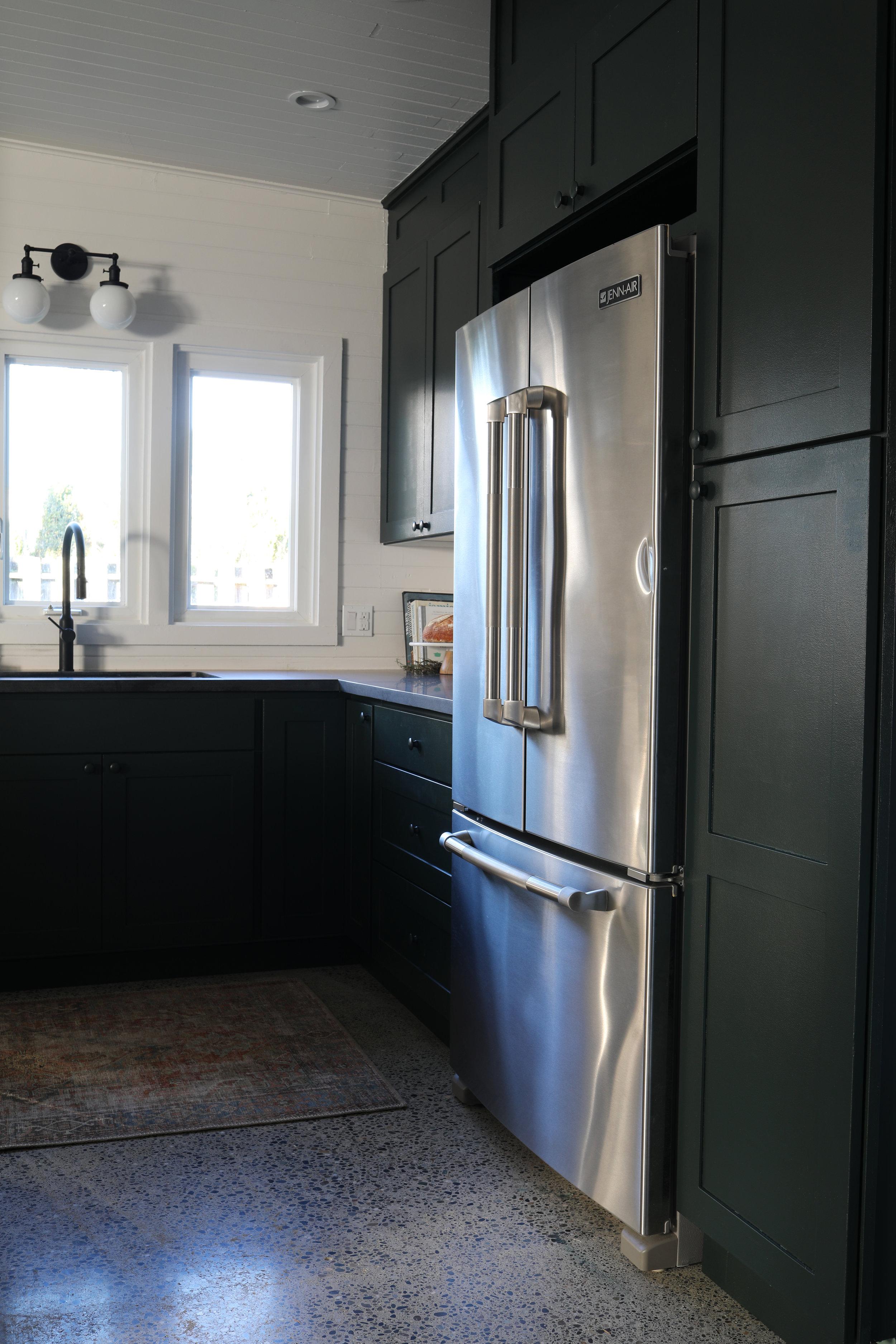 The Grit and Polish - Tacoma Kitchen Reveal Fridge Wall.jpg