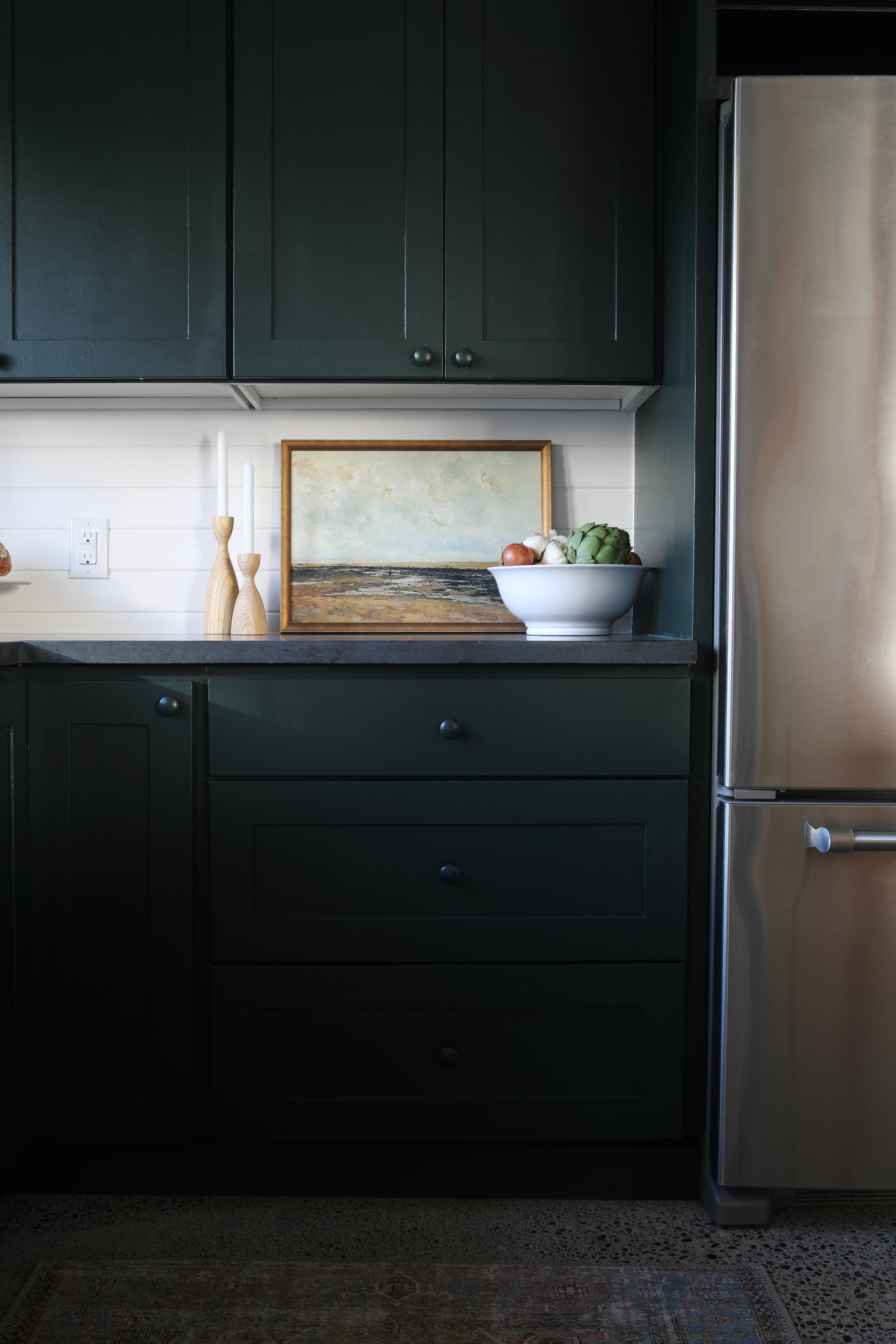 The Grit and Polish - Tacoma Kitchen Reveal Art on Countertop.jpg