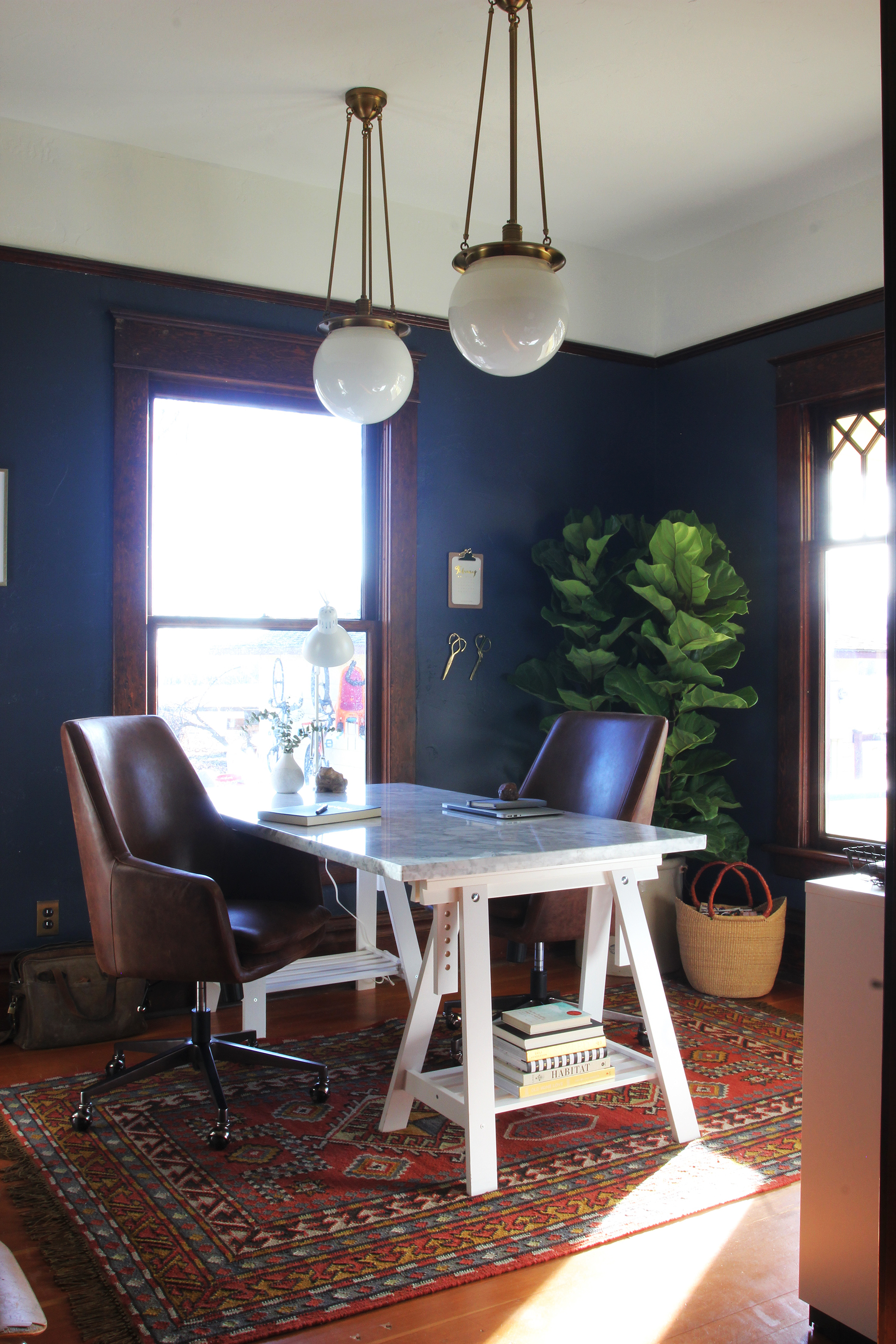 The Grit and Polish - Farmhouse Office January Update Desk SUN.jpg