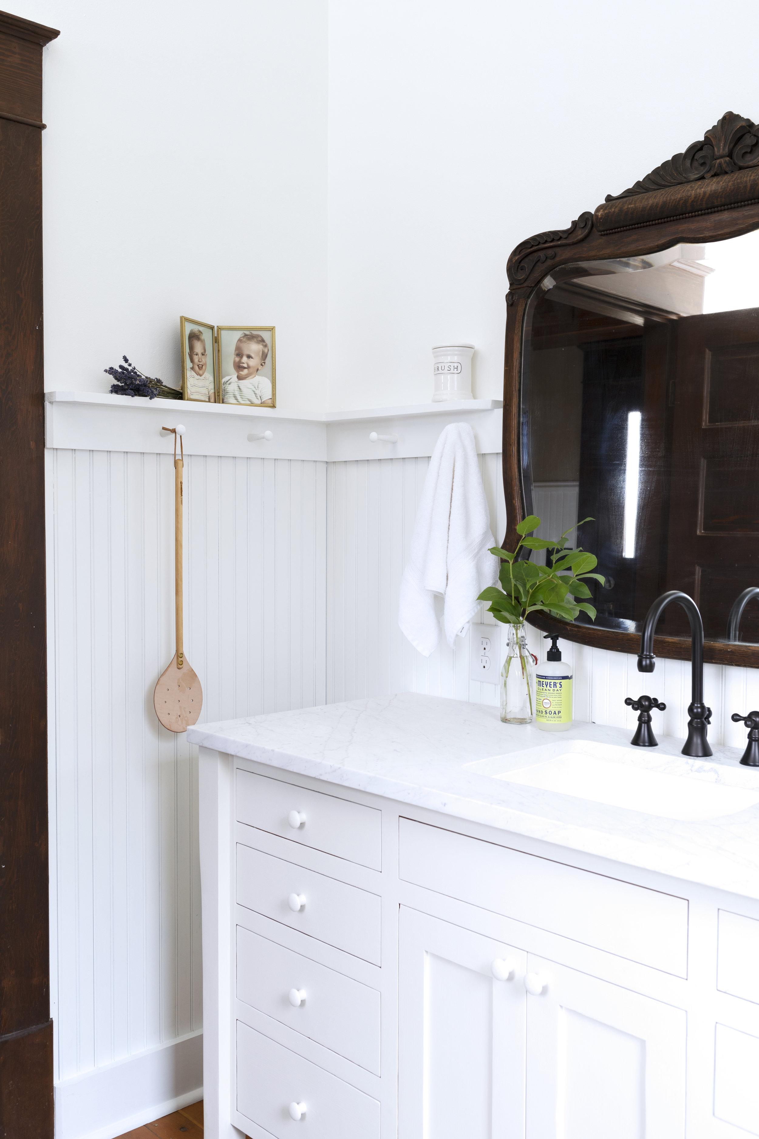 The Grit and Polish - Farmhouse Bathroom Budget Refresh Corner Baby Pic.jpg