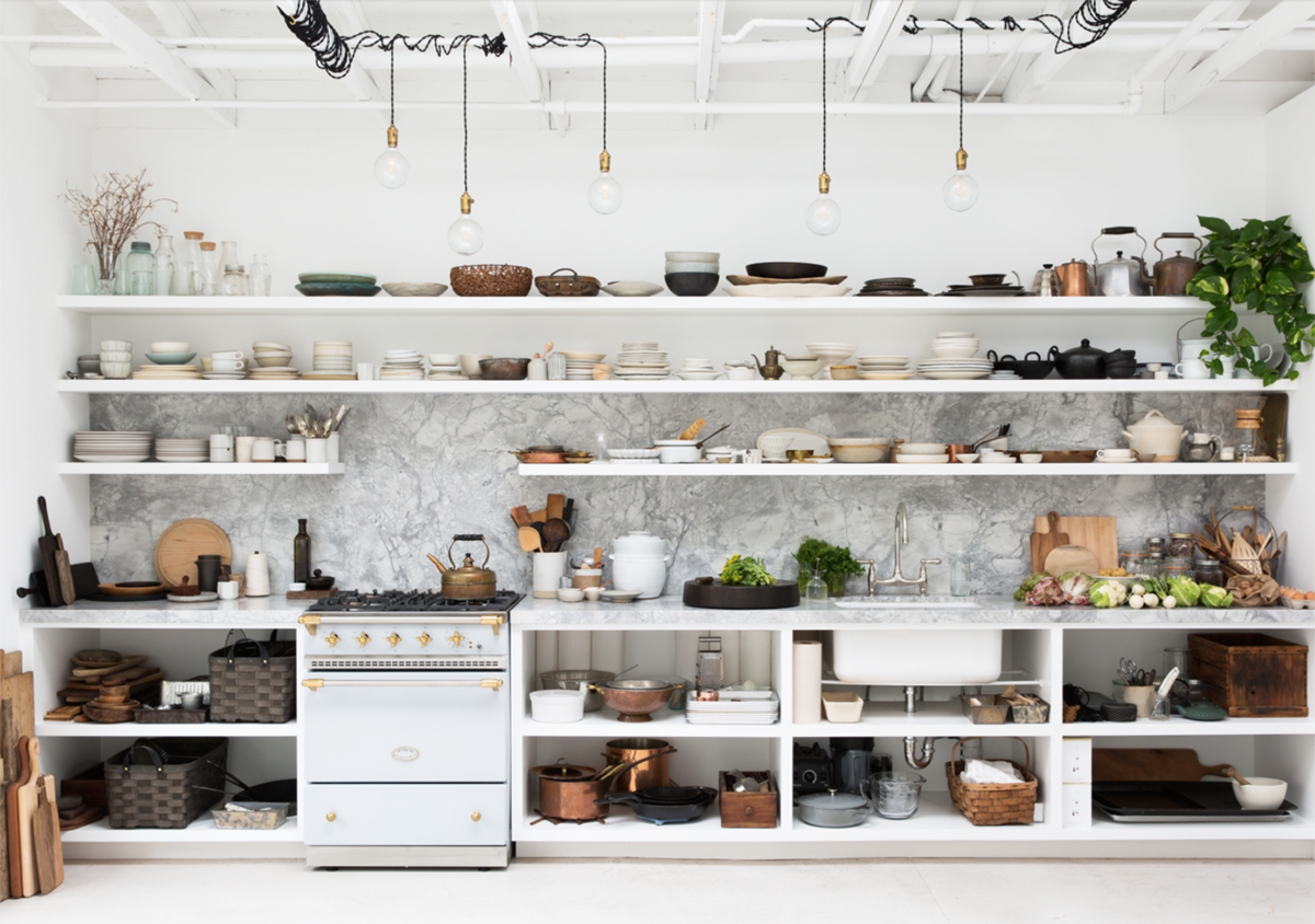 deconstructed kitchens // Backyard studio Erin Scott on Coco Kelley // via the Grit and Polish