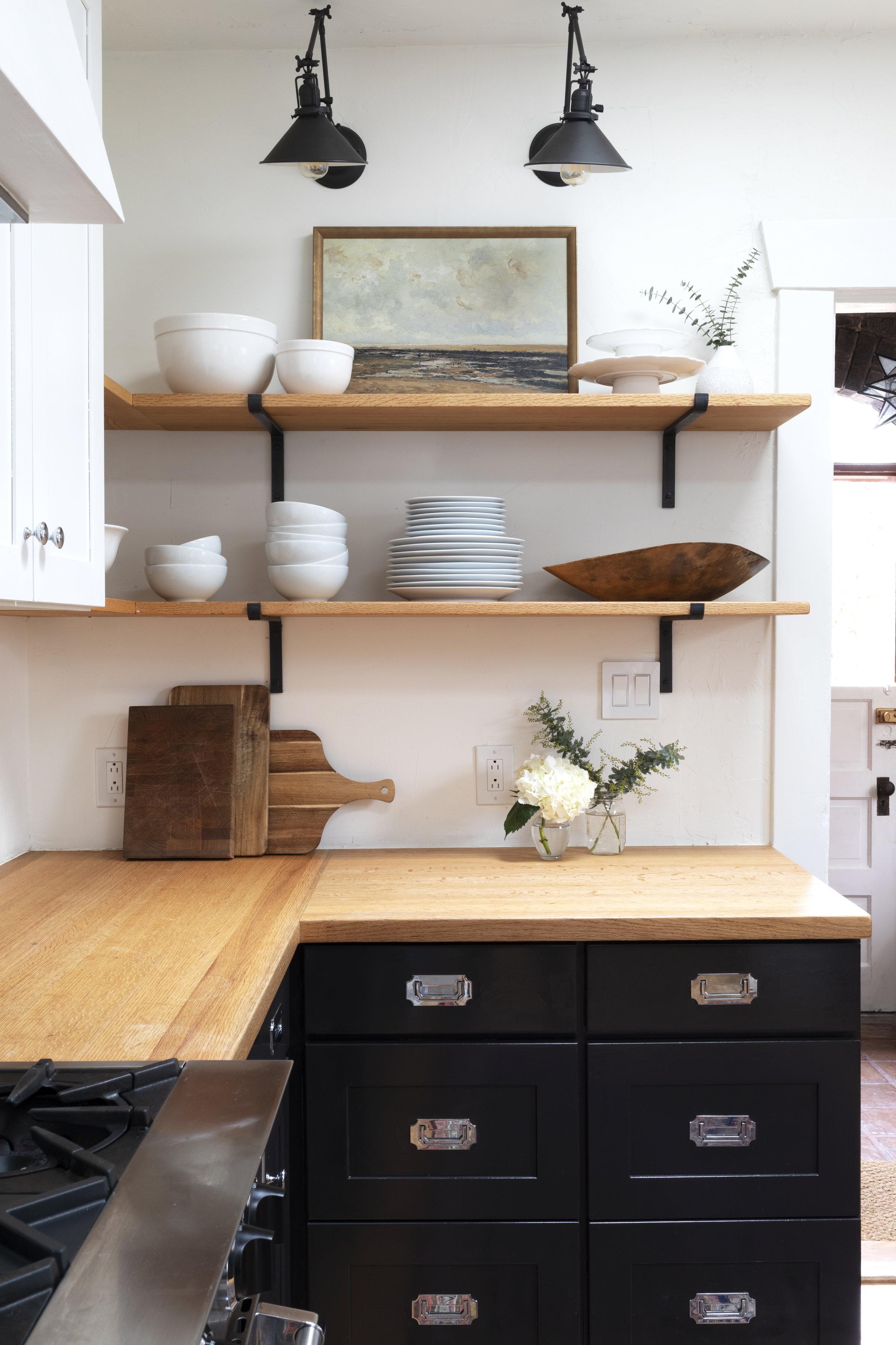 Red Oak Counters, Shelves, Floors