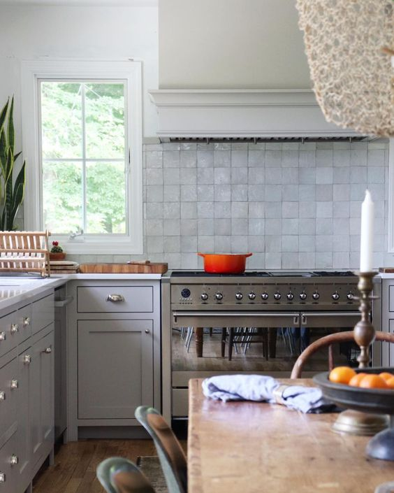 Natahsa Habermann's Kitchen 5 // neutral cabinet paint colors for kitchens // the Grit and Polish