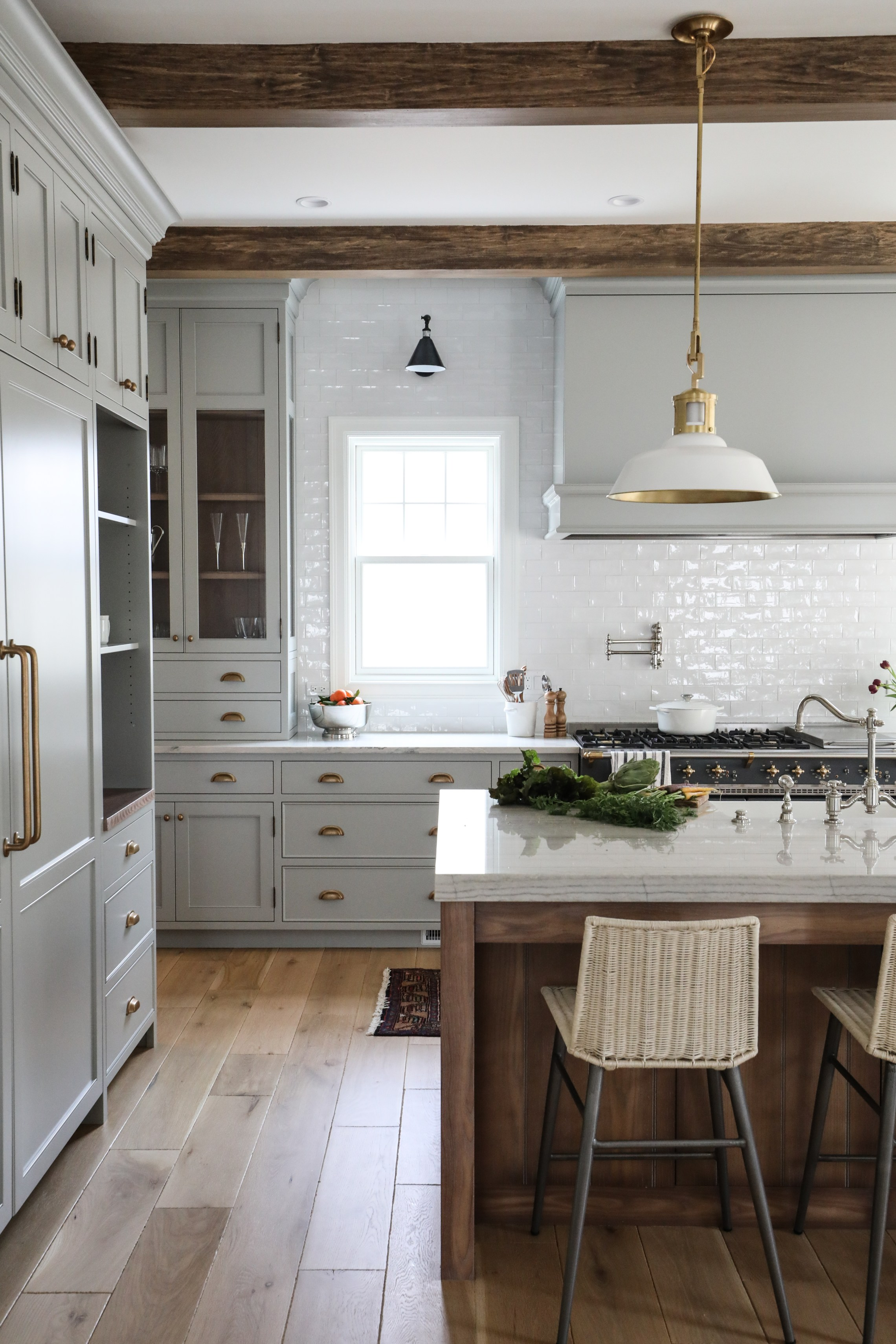 Park and Oak Hinsdale Kitchen // neutral cabinet paint colors for kitchens // the Grit and Polish