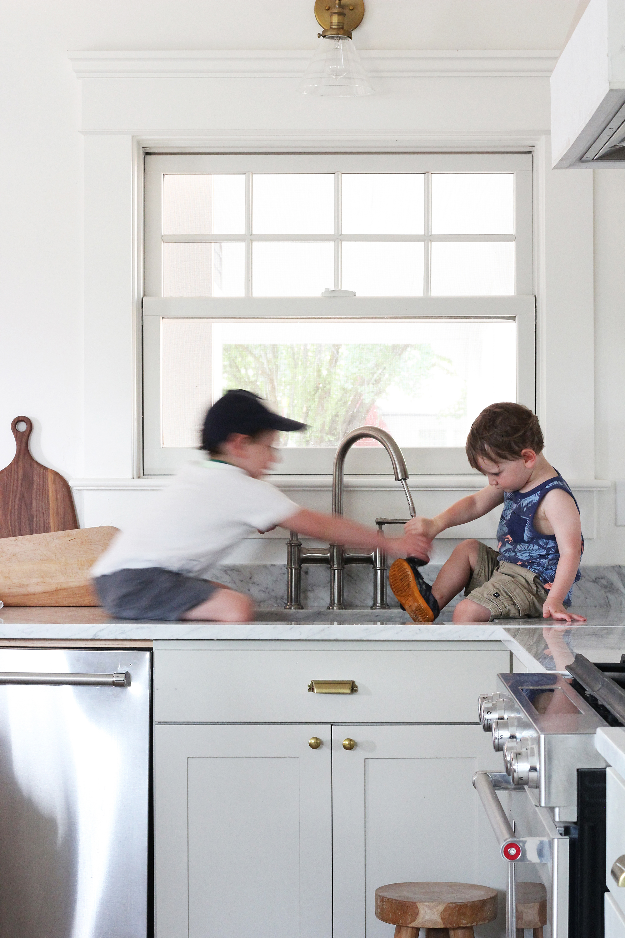 The Grit and Polish - Porch Kitchen Boys in Sink Shoe 1.2