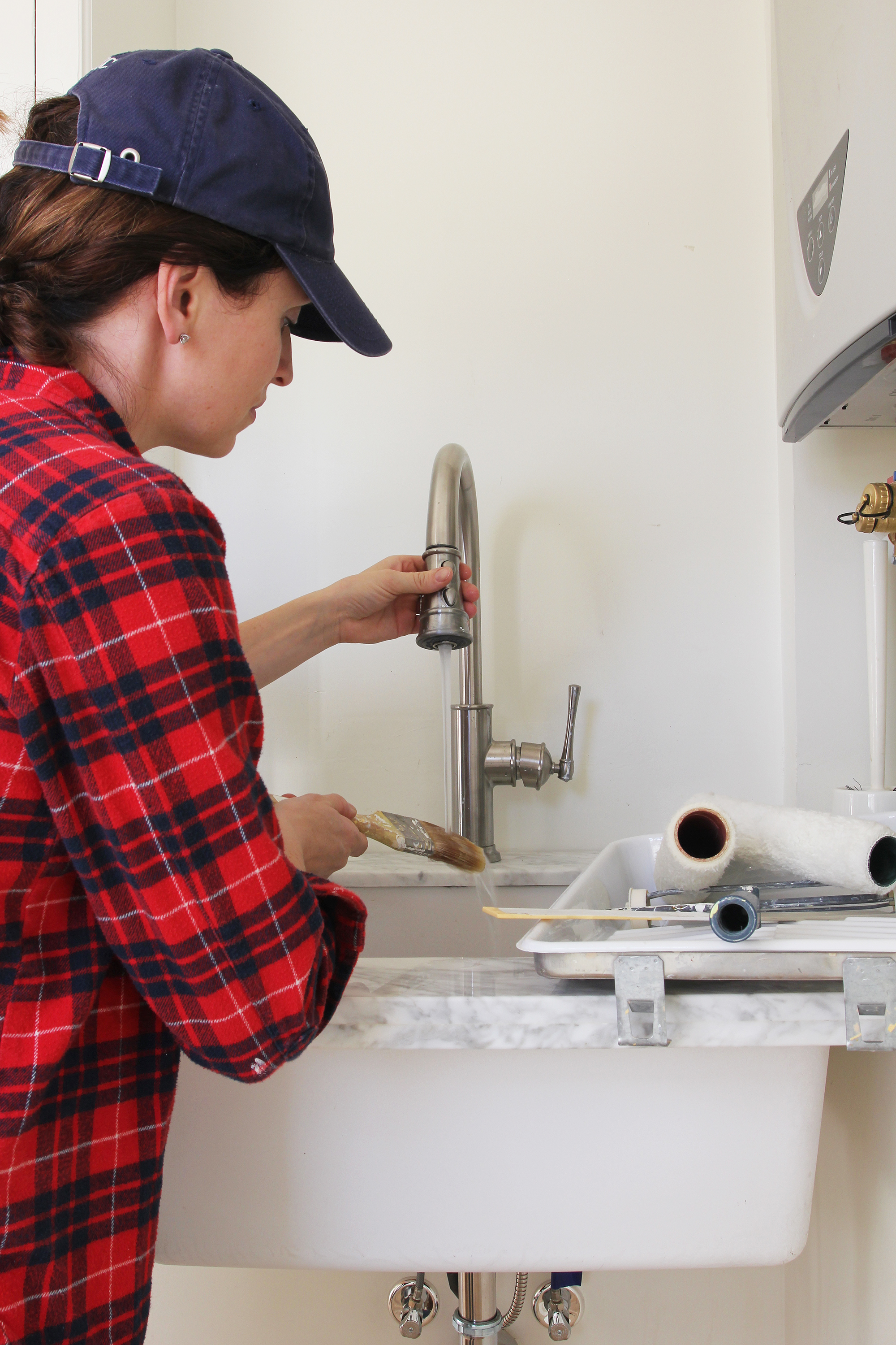 The Grit and Polish - Porch Mudroom Elkay Sink Cleaning