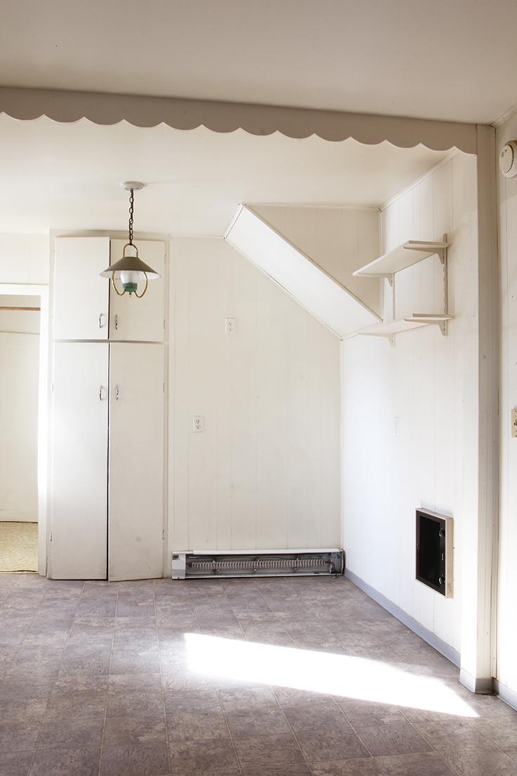 The Grit and Polish - Porch Kitchen Before fridge corner.jpg