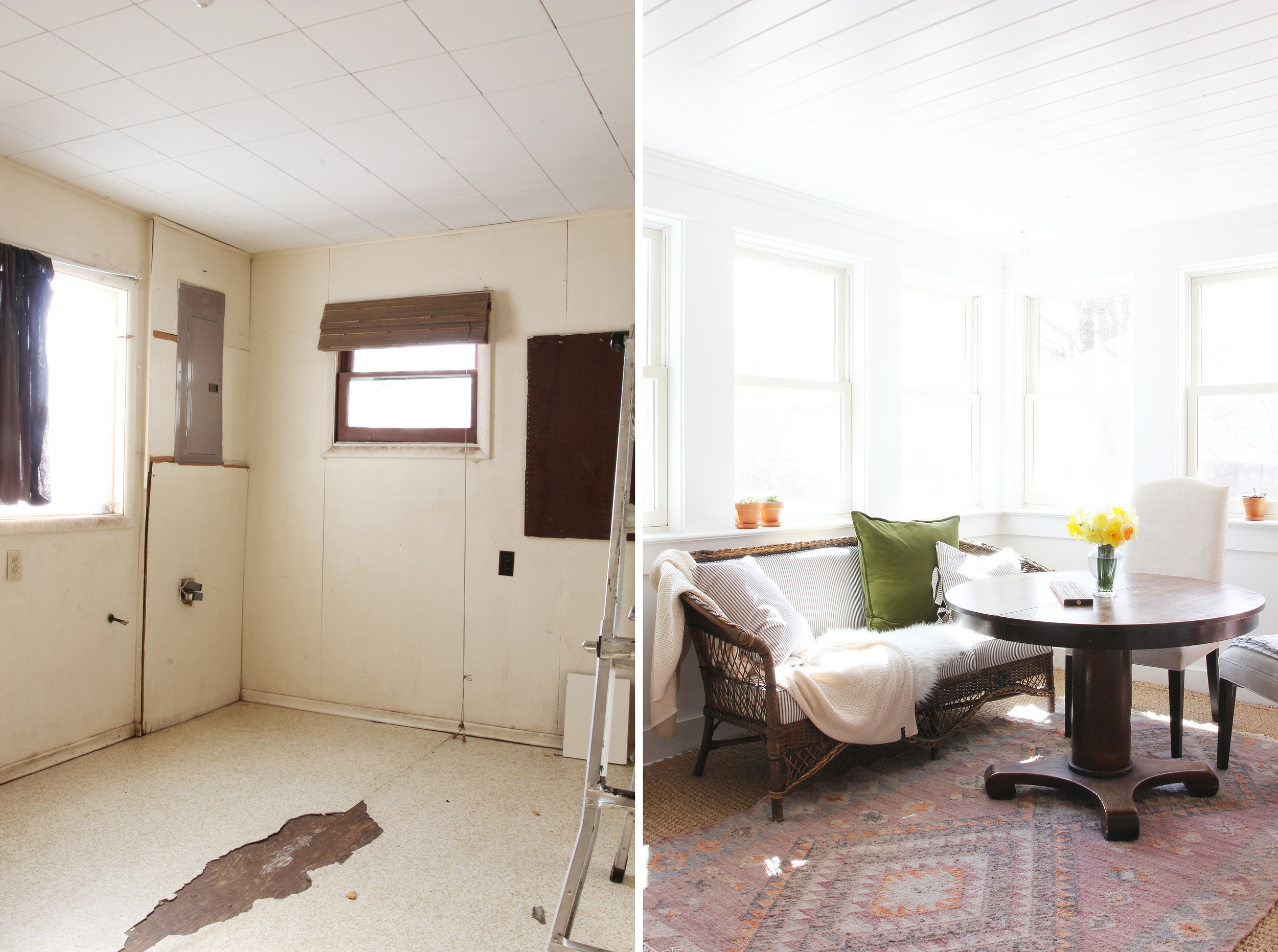 The Grit and Polish - Porch House Sunroom Before and After.jpg
