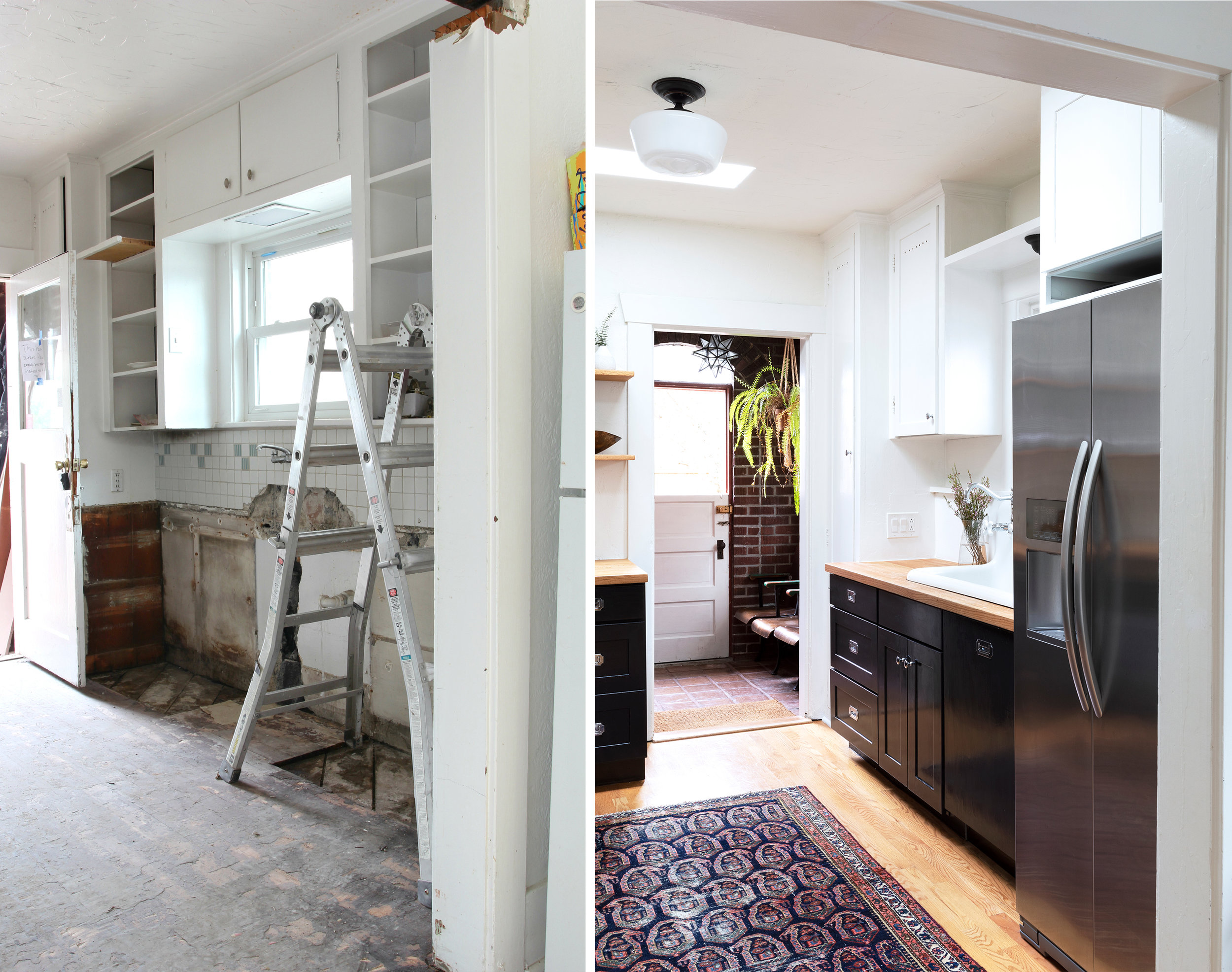 The Grit and Polish - Dexter Kitchen Before and After Sink.jpg