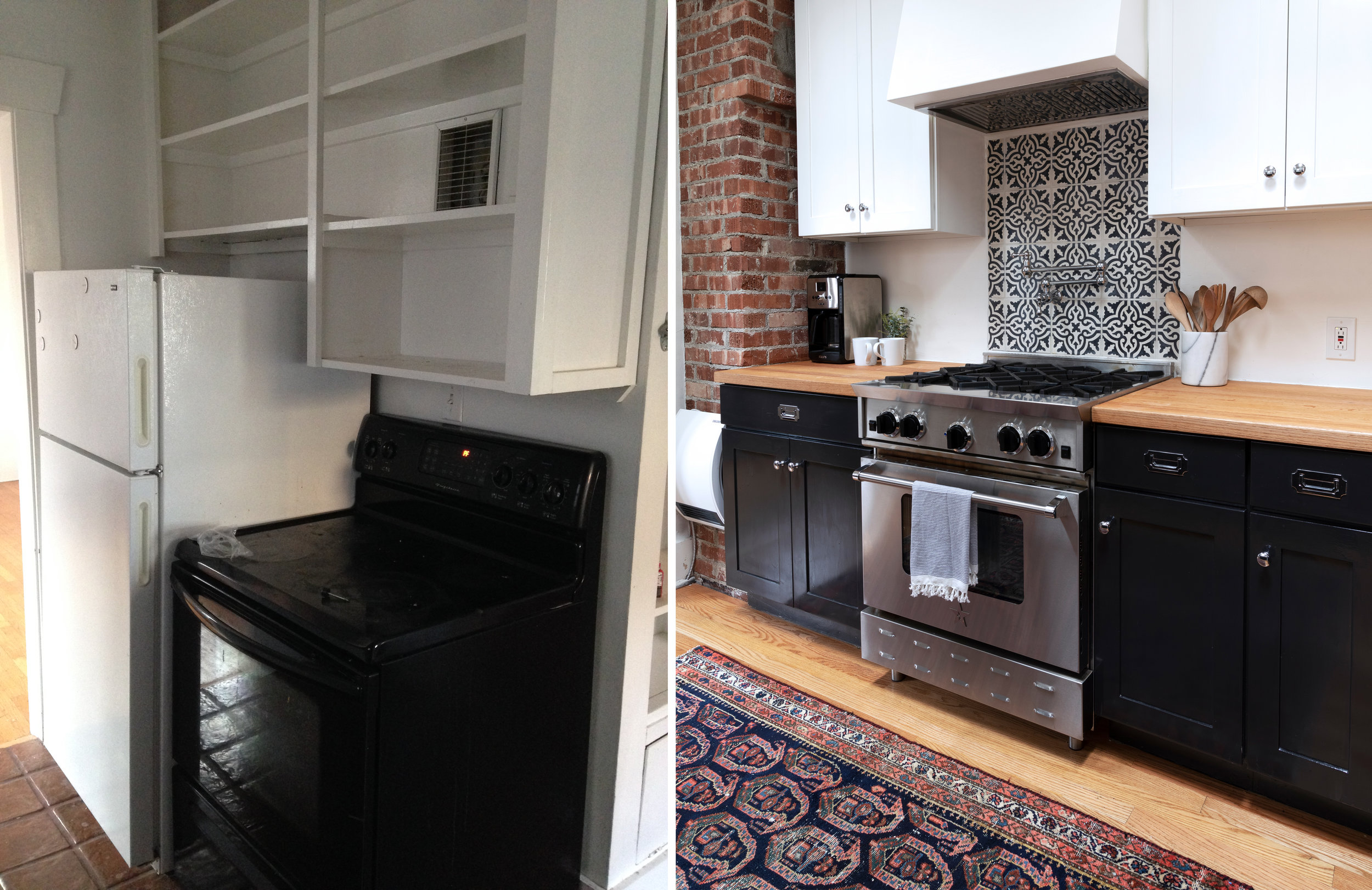 The Grit and Polish - Dexter Kitchen Before and After Range.jpg