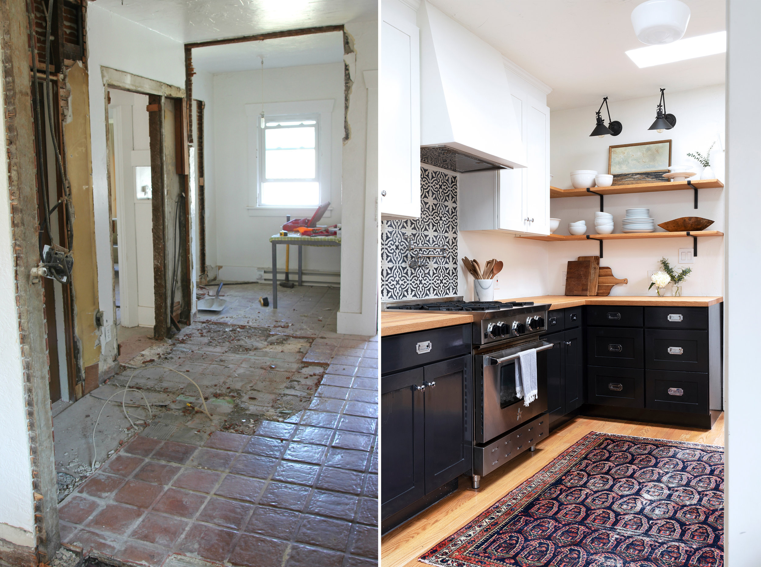 The Grit and Polish - Dexter Kitchen Before and After Corner.jpg