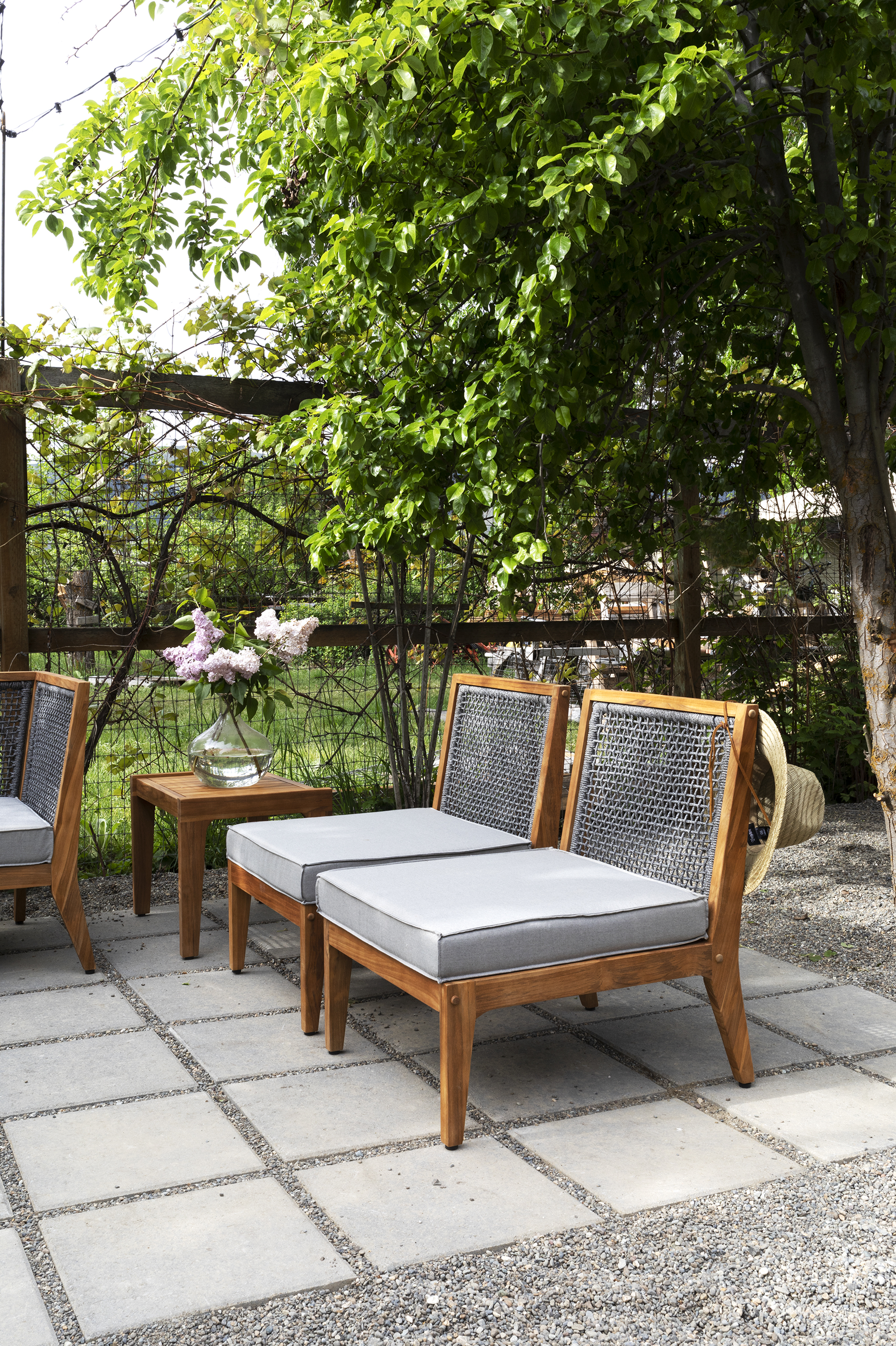 The Grit and Polish - Farmhouse Garden Patio Armless Chairs.jpg
