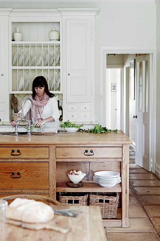 rustic wood island and white kitchen.jpg