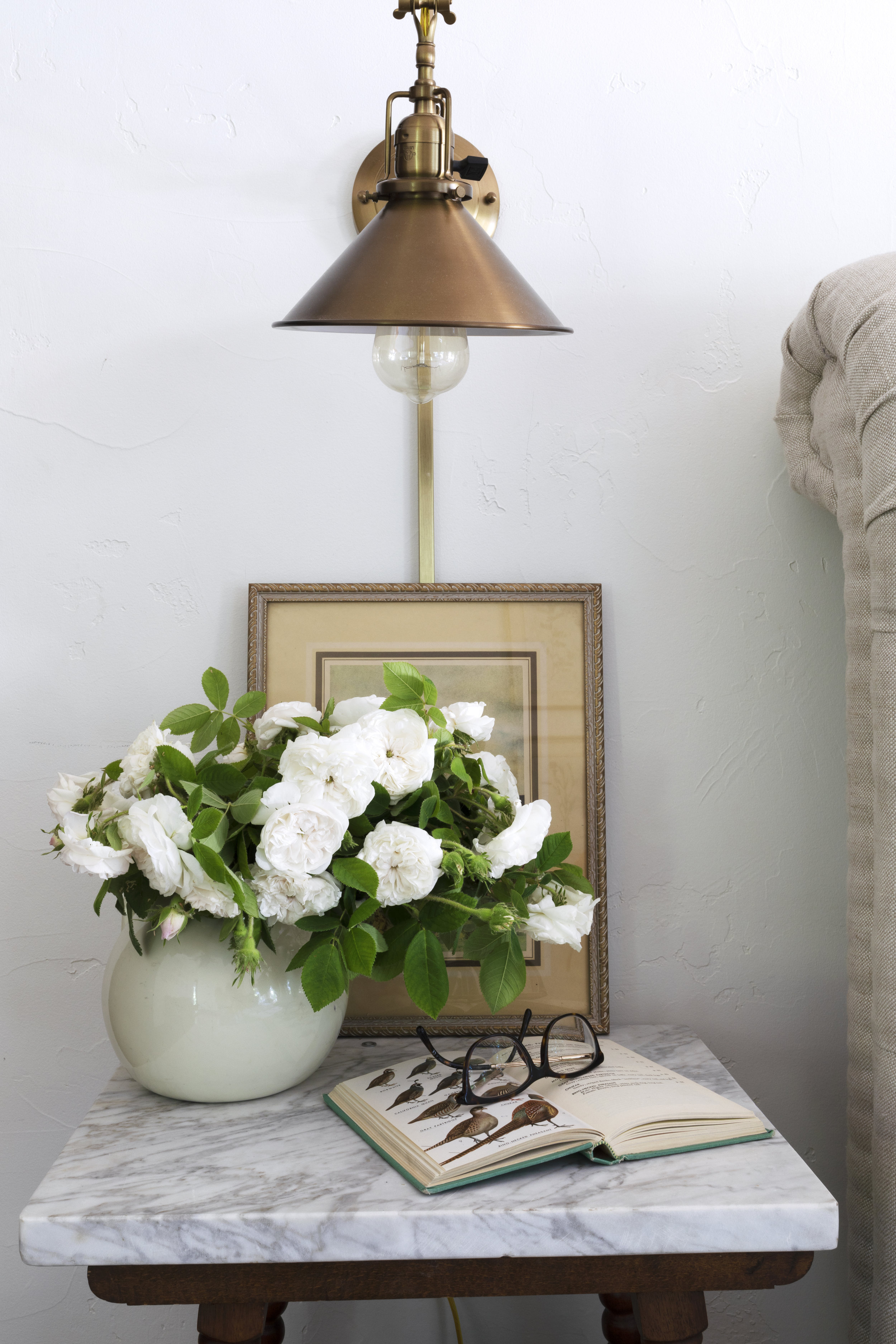 The Grit and Polish - Farmhouse Master Nightstand Roses.jpg