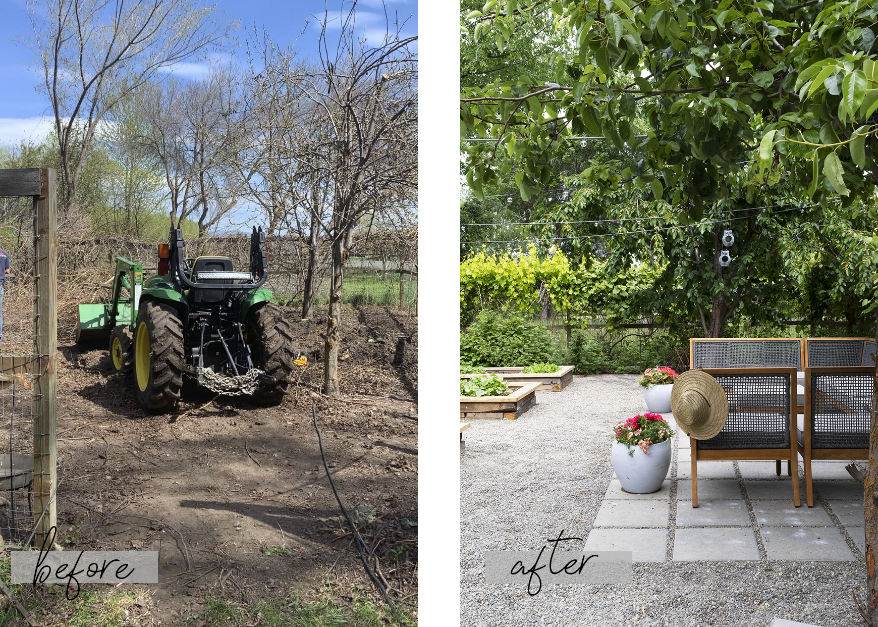 The Grit and Polish - Farmhouse Garden BEFORE AND AFTER 2.2.jpg
