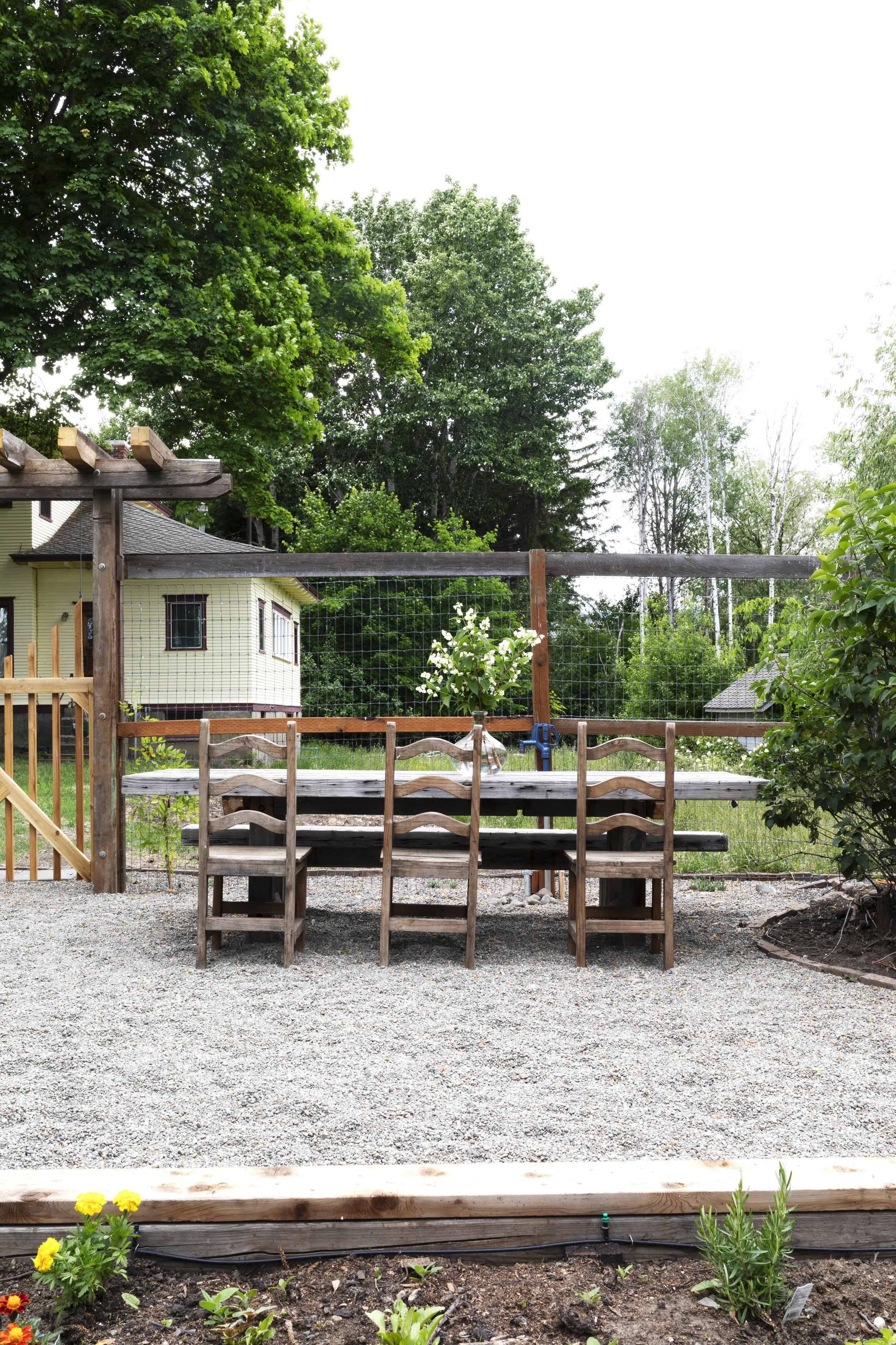 The Grit and Polish - Farmhouse Garden Table + House.jpg